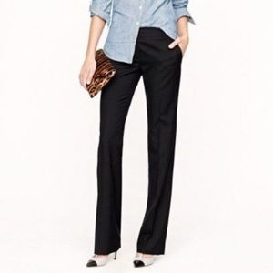 NWT J. Crew Super 120's Wool Black Trouser pant